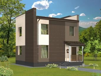 Проект индивидуального двухэтажного жилого дома с подвалом